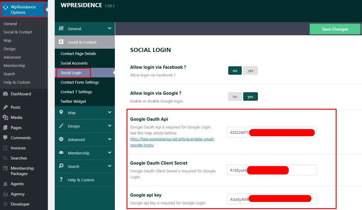 ENABLE GMAIL (GOOGLE) LOGIN - WP Residence Help WP Residence Help