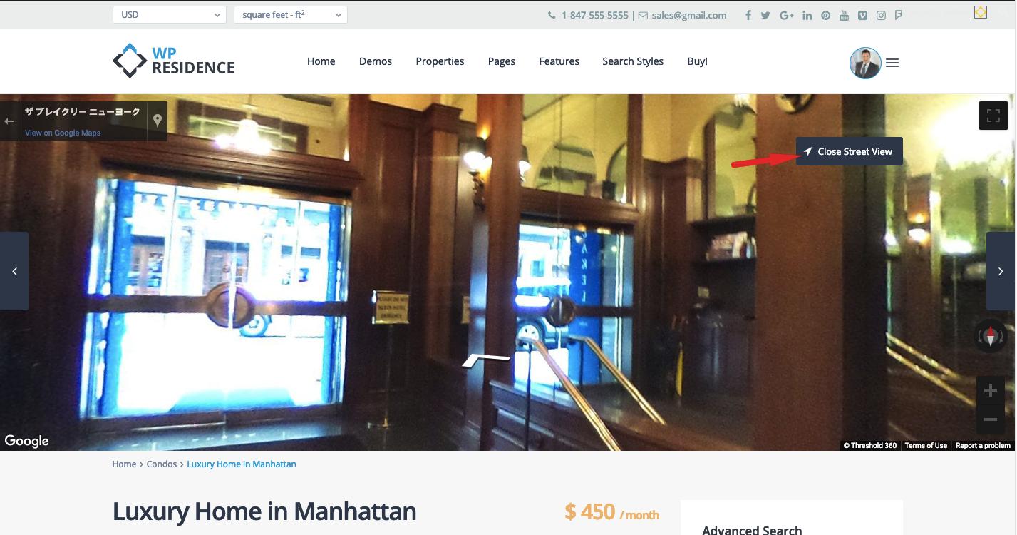 Google Map Street View - WP Residence Help WP Residence Help